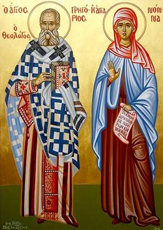 St. Gregory the Theologian & his mother, St. Nonna