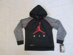 9d84e420960fcf Details about NWT Nike Jordan Jumpman Youth Boy s Sz 6 Pullover Hoodie  Fleece Black Red  63