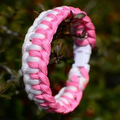 love the pink! colors can be costumed! Paracord Bracelet  Single Genoese Bars  by JoshsSexyStraps on Etsy, $12.00