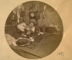 Photos of Chinese opium smokers in there [sic] dens in China Town in 1889
