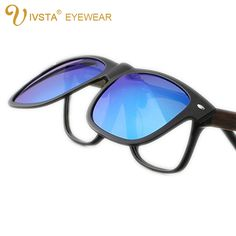 00095ff840 IVSTA JP806 2016 New Cool Lenses Clip On Sunglasses Men Flip Up Clips  Driving Sun Glasses