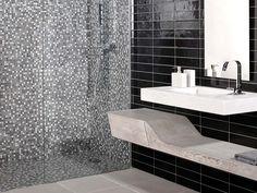 Indoor mosaic / wall / stone / imitation metal - MINI IRIS STONE ...