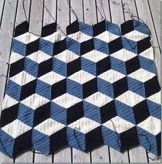 Tapete 3 D em Crochê com Gráfico - Crochê On Line - Gráficos, Paps e Vídeoaulas