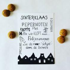 Handlettering Sinterklaas kaart wit Write It Down, Chalkboard Art, Letter Writing, Love Words, Bullet Journal, Place Card Holders, Letters, Make It Yourself, School
