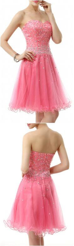Enchanted 2016 Homecoming Dresses, Prom Dress, A-Line Sweetheart Short Tulle Prom Dress With Beading, Short/Mini A Line homecoming dress, 2016 homecoming dress. Find This Lovely Dress from GemGrace, Enjoy Free Shipping Today.