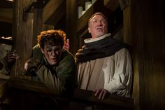 THE HUNCHBACK OF NOTRE DAME at Paper Mill Playhouse Photos by Jerry Dalia -- Michael Arden as Quasimodo and Patrick Page as Dom Claude Frollo