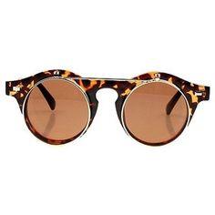 Choies Duas duplas óculos de sol do vintage na cópia do leopardo