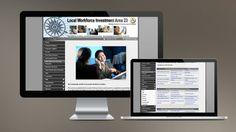 """2007: My first """"professional"""" website, designed for Crossroads Workforce in Mattoon, IL. // Mi primer trabajo """"profesional"""" diseñado para Crossroads Workforce en Mattoon, Illinois, USA."""