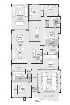 I think this is the one- it has all the possible rooms and spaces one could need Luxury House Plans, Modern House Plans, Dream House Plans, House Floor Plans, Casa Ideal, Ideal Home, One Story Homes, Story House, House Layouts