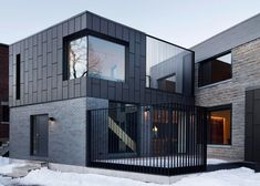 red metal cladding - Google Search Zinc Cladding, Cladding Design, Brick Cladding, External Cladding, House Cladding, House Siding, Minimalist Architecture, Architecture Design, Clad Home