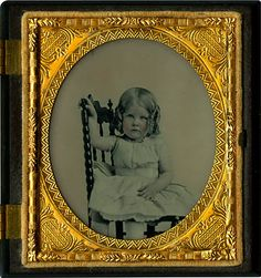 This ambrotype of a young girl, probably from around 1860, is typical of the portraits of the time.