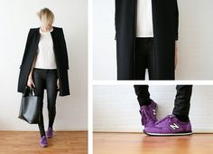 Dude, this is so sleek. Having the bright sneakers is great.