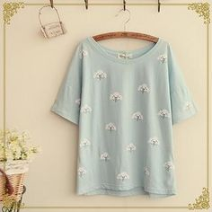 Buy 'Fairyland – Short-Sleeve Cloud Print T-Shirt' with Free International Shipping at YesStyle.com. Browse and shop for thousands of Asian fashion items from China and more!