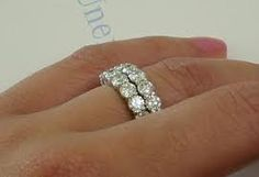 stacked diamond rings - Google Search