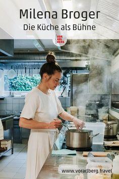 In einer offenen Küche des Restaurant Weiss in Bregenz kocht Milena Broger mit feinsten regionalen Zutaten direkt vor den Augen Ihrer Gäste. Wir haben die junge Haubenköchin besucht und mit ihr über ihre Arbeit und ihre Philosophie in der Küche gesprochen. Restaurant, Philosophy, Bregenz, Open Plan Kitchen, Eyes, Food And Drinks, Diner Restaurant, Restaurants, Dining