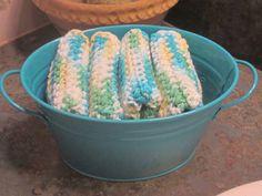 Handmade Washcloths Dishcloths Qty of 4 in by LeftoverStuff, $15.00