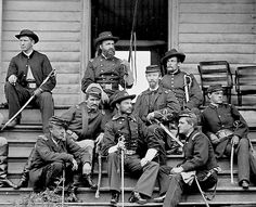 A cool group of cavalry officers led by the, in my opinion, even cooler General Torbert at front center.Infantry brigade commander at Gettysburg, the later cavalry division commander.