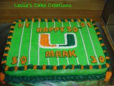 Miami Hurricanes cake - Google Search