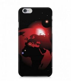 Amazing Red Earth Alien Theme 3D Iphone Case for Iphone 3G/4/4g/4s/5/5s/6/6s/6s Plus - ALN0001
