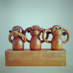 Three wise monkeys  Photo by DILL objects