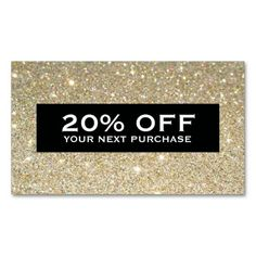 customizable discount coupon card for your business great for boutiques beauty salons hair - Discount Business Cards