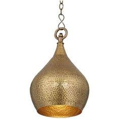 "Zaria 9"" Wide Antique Brass Mini Pendant Light"
