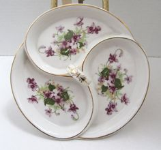 Vintage Floral Sectional Dish Occupied Japan by myabbiesattic, $24.99