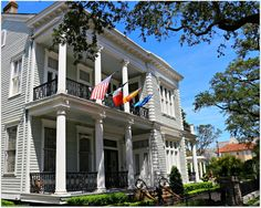 New Orleans Homes and Neighborhoods Elms Mansion and Gardens on St. Charles Ave….Italianate Style home from 1869