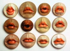 wooden brooches by Julia Harrison