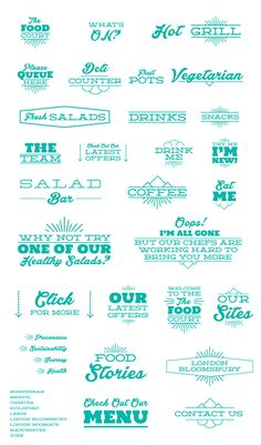 The Food Court Branding & Logos by Bayley Design, via Behance