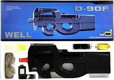 WellFire D90 KS90 Fully Automatic Electric Airsoft AEG Rifle SMG PDW by Well. $39.95. The WellFire KS90 Fully Automatic Electric Airsoft AEG rifle is one of the best starter electric rifles you will find on the market.  The package includes safety goggles, a carrying strap, and a battery and charger set, so all you have to do is get BBs, load them, and begin shooting.  It also features a high capacity magazine that holds 400 rounds!  It has enough power for a starter electr...