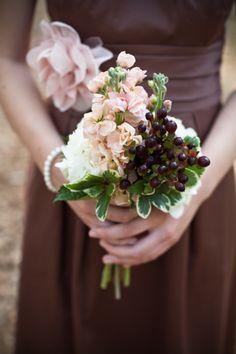 Espresso bridesmaid with a vintage bouquet Wedding Flower Decorations, Wedding Themes, Wedding Colors, Themed Weddings, Wedding Ideas, Wedding Details, Wedding Stuff, Wedding Inspiration, Bridesmaid Flowers