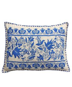 High Street Market - Vintage Blue Hungarian Embroided Pillow ($50-100) - Svpply
