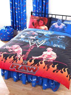 WWE Raw Vs Smackdown Double Duvet Cover And Pillowcase Bedding Brand New  Design. Duvet Size