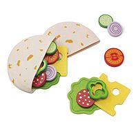 PITA POCKETS LUNCH|UncommonGoods Cute! Of course the Melissa & Doug stuff is cute and all the pbkids food, but this is healthy looking and I want to eat it...