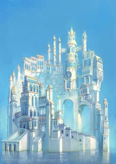 White Tower by ~SnowSkadi -   Digital Art / Drawings / Landscapes & Scenery