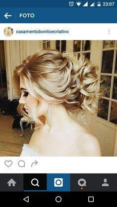 Ideias Party Hairstyles, Bride Hairstyles, Mother Of The Bride Hair, Wedding Looks, Hair Looks, Bridal Hair, My Hair, Marie, Hair Makeup