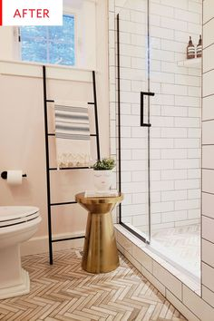 Before and After: This Tiny Bathroom Redo Triggers Some Major Cute Aggression | Apartment Therapy