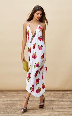 Boho Maxi in White Rose by Dancing Leopard