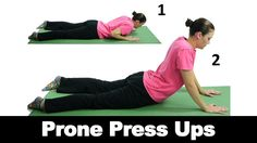 Prone press ups are a great for helping to stretch out your lower back and relieve lower back pain. Watch more Ask Doctor Jo videos featuring full routines for common injuries and syndromes at http://www.askdoctorjo.com
