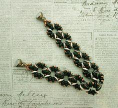 Linda's Crafty Inspirations: Bracelet of the Day: Claudia - Jet & Ivory
