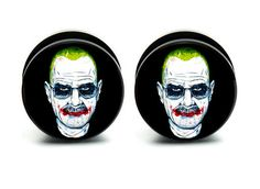 Pair of #acrylic joker #breaking bad ear plug #gauges tunnel screw on backs,  View more on the LINK: 	http://www.zeppy.io/product/gb/2/112115985857/