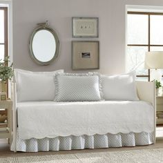 Free Shipping. Buy Trellis White 5 Piece Daybed Cover Set by Stone Cottage at Walmart.com