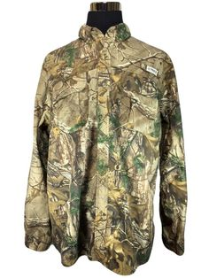 Magellan Fishing Mag Wick Shirt 2XL Realtree Xtra Camouflage Camo Nylon Button #Magellan #ButtonFrontShirt
