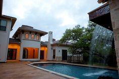Pool Design www.diamantehomes.com Coastal Homes, Pool Designs, Custom Homes, Exterior, House Design, Mansions, House Styles, San Antonio, Outdoor Decor