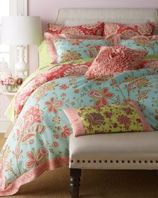 "Amy Butler ""Sari Bloom"" Bed Linens-- I love these colors together"
