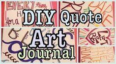 DIY QUOTE ART JOURNAL