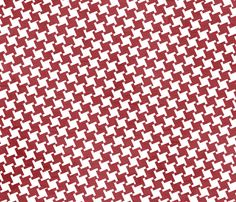 Red Houndstooth fabric by amyteets on Spoonflower - custom fabric