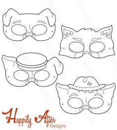 Three Little Pigs Printable Coloring Masks Mouse Mask Pig Crafts Baby