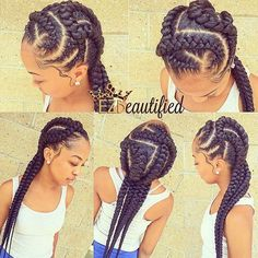 these braids are everything (natural hair, black hair, hairstyles for black girls)